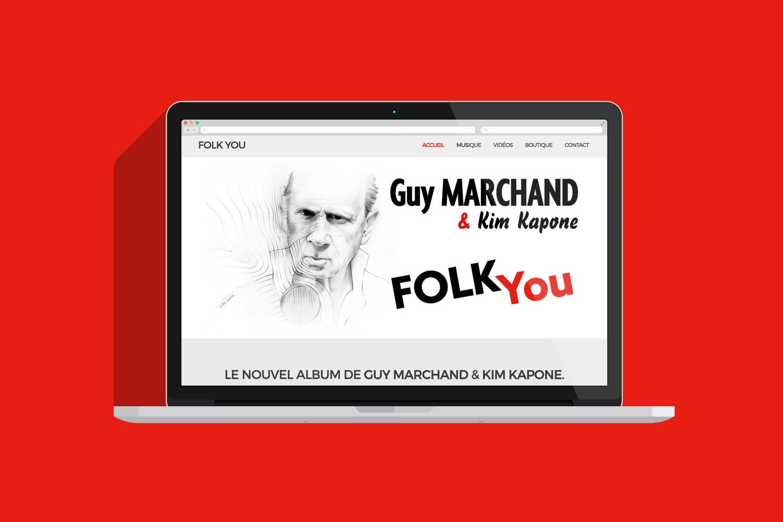 Projet de site Guy Marchand et Kim Kapone pour l'album Folk You