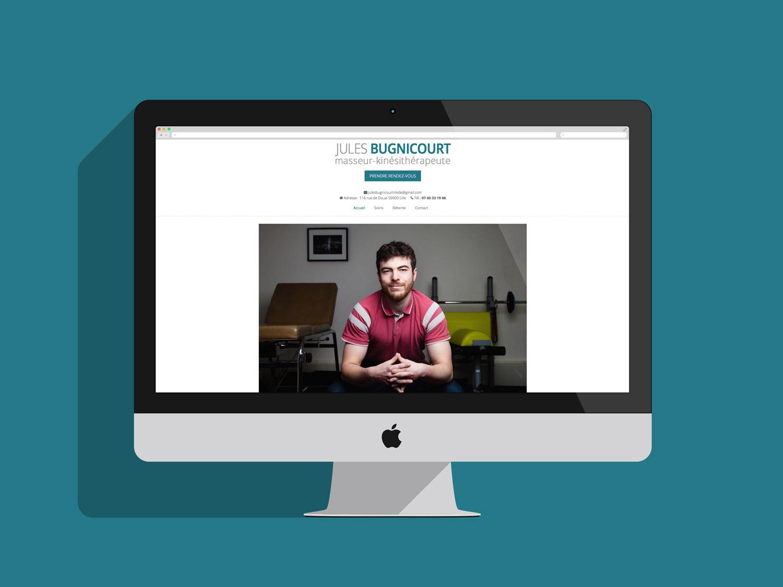 Projet de site Jules Bugnicourt Masseur Kinesitherapeute
