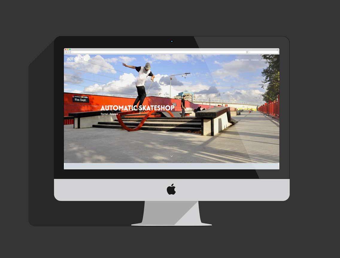 Site de Automatic Skate shop à Tournai