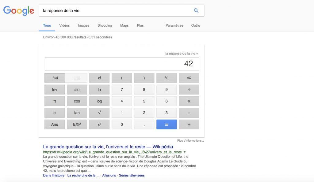 La réponse de la vi est le chiffre 42