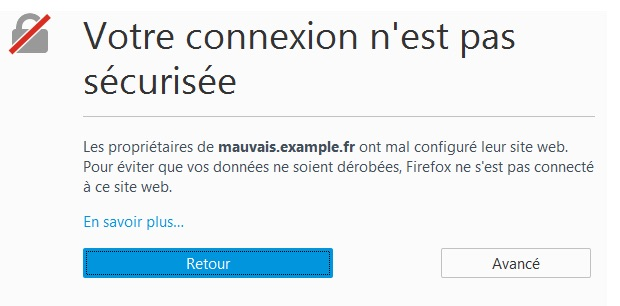 Certificat SSL expiré sur Firefox